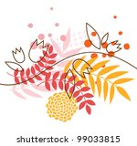 floral picture | Shutterstock .eps vector #99033815