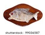 Piranha Fish As Trophy On Wood...