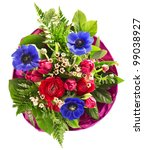 colorful spring flowers bouquet.... | Shutterstock . vector #99038927