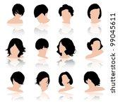 hair fashion set  vector | Shutterstock .eps vector #99045611