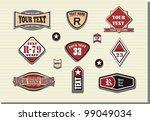 vector set of retro labels | Shutterstock .eps vector #99049034