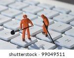 Computer Repair Concept Men At...