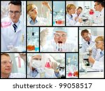 collage of clinicians studying... | Shutterstock . vector #99058517