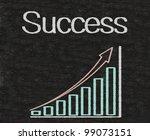 growing written on blackboard... | Shutterstock . vector #99073151