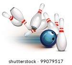 bowling ball crashing into the...