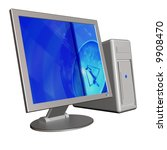 3d illustration of an computer... | Shutterstock . vector #9908470