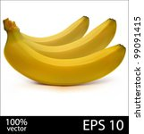 three bananas in batch. photo... | Shutterstock .eps vector #99091415