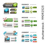 feedback  and message icons  ... | Shutterstock .eps vector #99092525