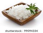 healthy sea salt in wooden bowl ... | Shutterstock . vector #99094334