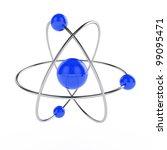 3d illustration of atom model... | Shutterstock . vector #99095471