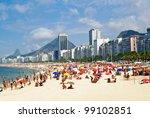 Beach Leme And Copacabana In...