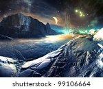 Lost Alien City In Winter...