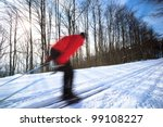 cross country skiing  young man ... | Shutterstock . vector #99108227