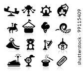 amusement park icons set... | Shutterstock .eps vector #99115409