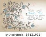 romantic flower background | Shutterstock .eps vector #99121931