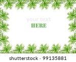 green frame made from fresh dill | Shutterstock . vector #99135881