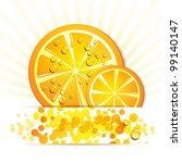 slice of orange with drops | Shutterstock .eps vector #99140147