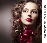 Fashion Woman With Magnolia...