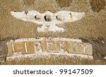 faded liberty ghost town usa - stock photo
