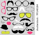 retro party set   sunglasses ... | Shutterstock .eps vector #99148184