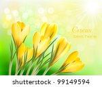 spring background with yellow... | Shutterstock .eps vector #99149594
