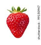 Single Fresh Red Strawberry...