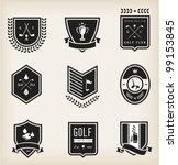 vector set of nine various golf ...   Shutterstock .eps vector #99153845