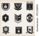 vector set of nine various... | Shutterstock .eps vector #99153854
