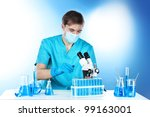 scientist in the lab working...   Shutterstock . vector #99163001
