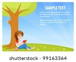 illustration of a cute small... | Shutterstock .eps vector #99163364