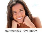 portrait of attractive brunette ... | Shutterstock . vector #99170009