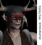 portrait of an elven shaman... | Shutterstock . vector #99175451