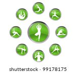 womans practice yoga | Shutterstock . vector #99178175