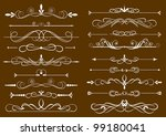 set of design elements in... | Shutterstock .eps vector #99180041