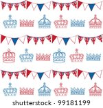 Crowns And Bunting Doodle...