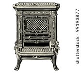 Stove   Vintage Engraved...