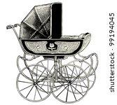 Pram   Vintage Engraved...
