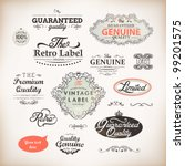 vector set  calligraphic design ... | Shutterstock .eps vector #99201575