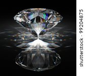 brilliant diamond on black... | Shutterstock . vector #99204875