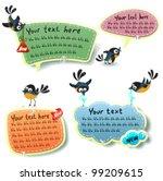 speech bubbles templates set | Shutterstock .eps vector #99209615