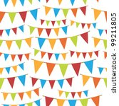party bunting seamless pattern  ... | Shutterstock .eps vector #99211805