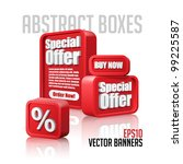 3d plastic abstract banners set ... | Shutterstock .eps vector #99225587