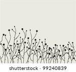 vector retro floral background   Shutterstock .eps vector #99240839