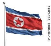 flag of north korea. rendered... | Shutterstock . vector #99242561