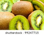A Lot Of Kiwi As A Background