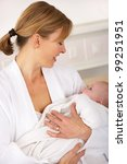 mother in hospital with newborn ... | Shutterstock . vector #99251951