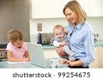 Mother With Children Using...
