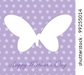 Mauve Mother's Day  Polka Dot...