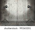 photo studio in old wooden room   Shutterstock . vector #99263201