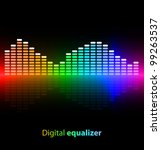 colorful digital equalizer on... | Shutterstock .eps vector #99263537